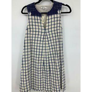 Madewell XXS dress embroidered shirt dress plaid